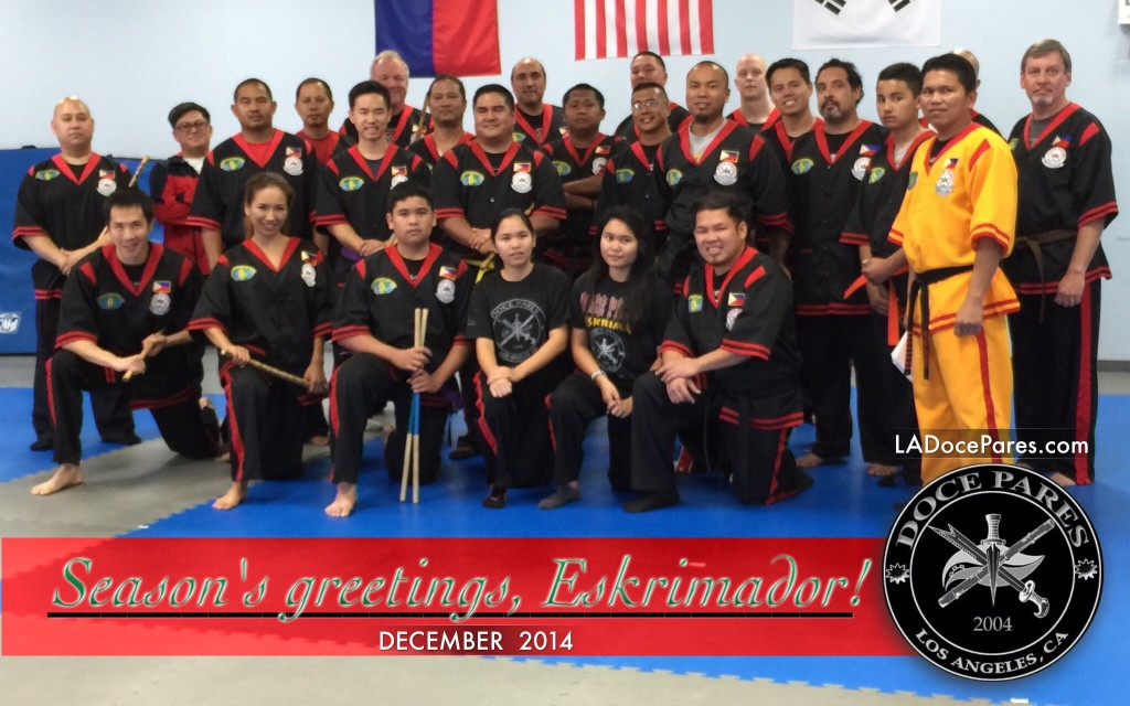 Seasons Greetings Eskrimador - Los Angeles Doce Pares