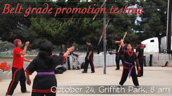 Los Angeles Doce Pares - October Belt Grade Promotion