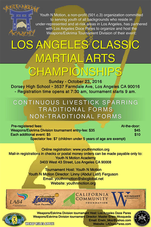 Los Angeles Doce Pares and Youth n Motion tournament